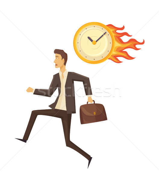 Time Management and Clock Vector Illustration Stock photo © robuart