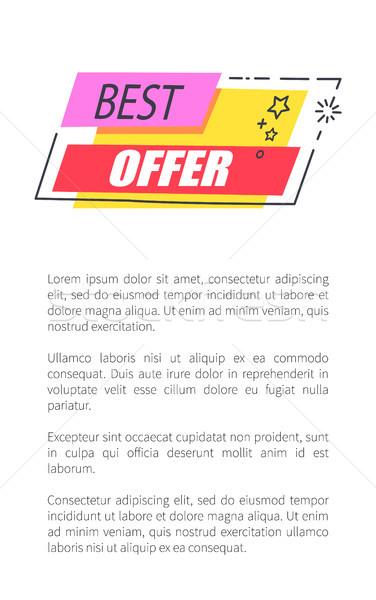 Legjobb ajánlat kényelmes árak promo poszter Stock fotó © robuart