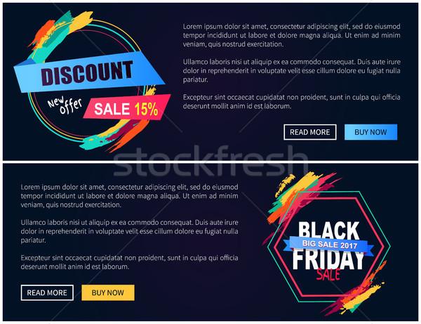New Offer Black Friday Web on Vector Illustration Stock photo © robuart