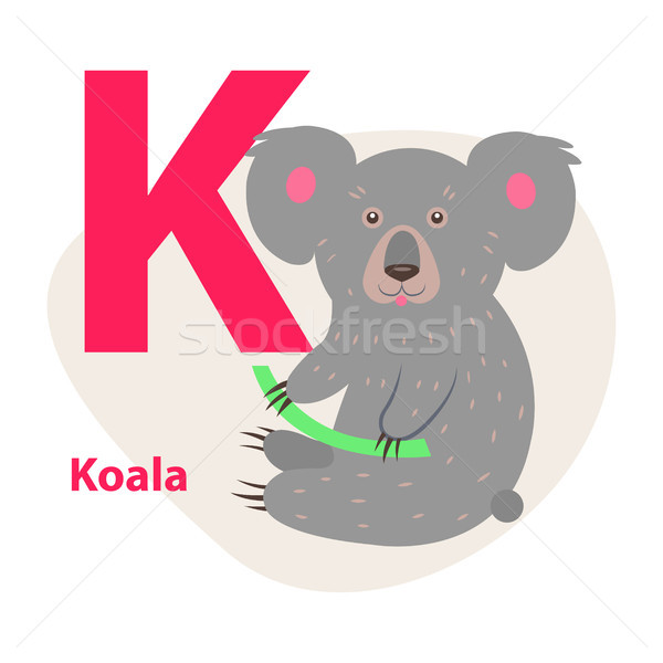 Zoo ABC Letter with Cute Koala Cartoon Vector Stock photo © robuart