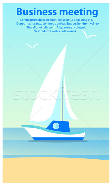 Business Meeting Sailboat Vector Illustration Stock photo © robuart