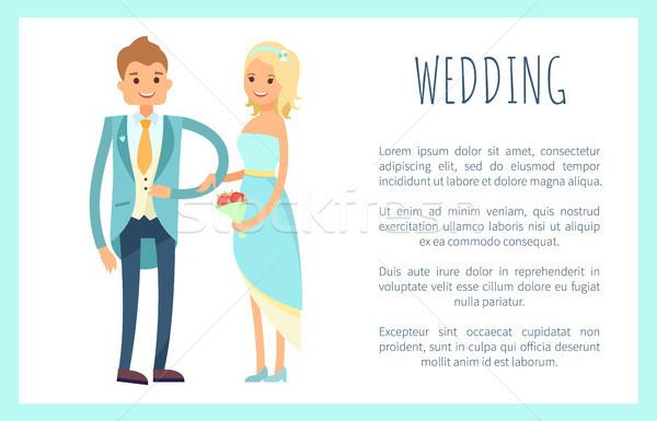 Mariage échantillon texte homme Photo stock © robuart