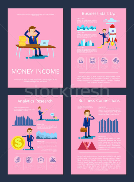 Money Income Business Start up Vector Illustration Stock photo © robuart