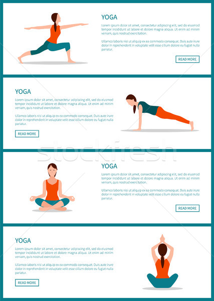Yoga Pages Collection Web Vector Illustration Stock photo © robuart
