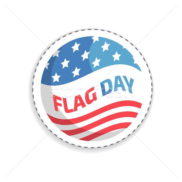 Flag Day Rounded Sticker, Vector Illustration Stock photo © robuart