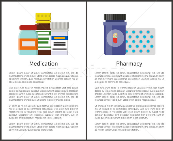 Medication and Pharmacy Items Vector Illustration Stock photo © robuart