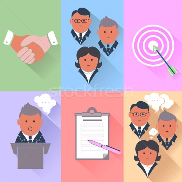ビジネス パートナーシップ 管理 チームワーク 人間 ストックフォト © robuart