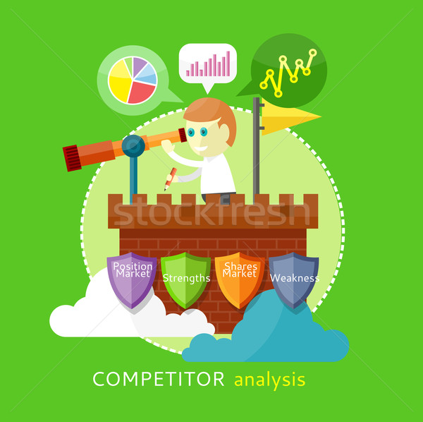 Competitor Analysis Concept Stock photo © robuart