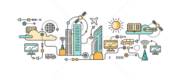 Smart Technology in Infrastructure of the City Stock photo © robuart