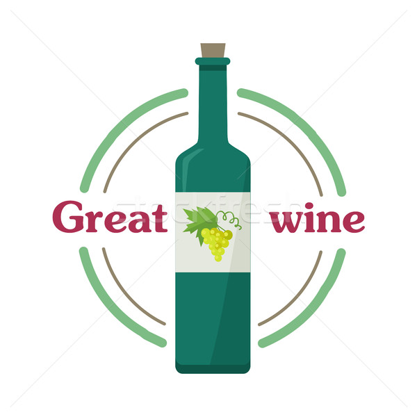 Nagyszerű bor csekk elit klasszikus fény Stock fotó © robuart