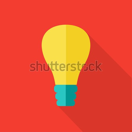 Bulb Vector Icon in Flat Style Design.   Stock photo © robuart