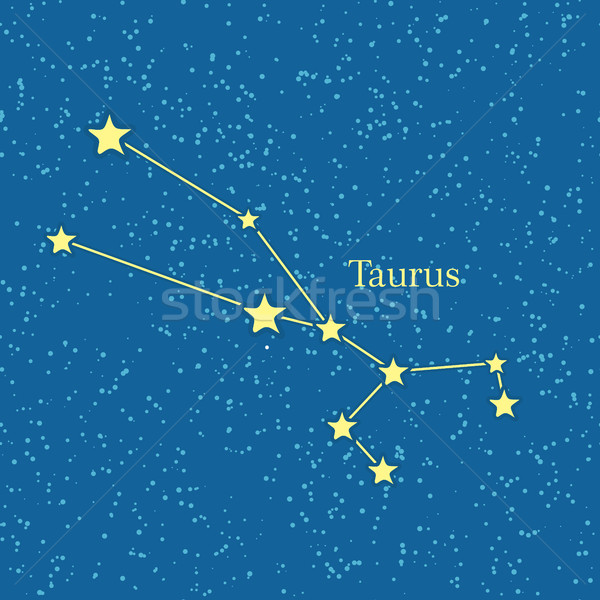 Night Sky with Taurus Constellation Illustration Stock photo © robuart