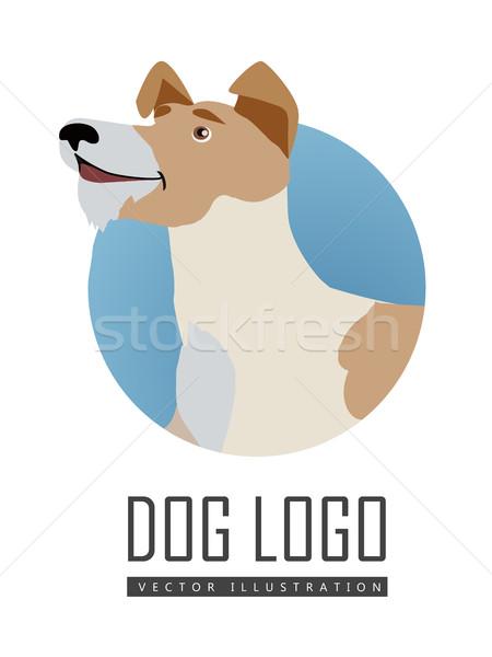 犬 ベクトル ロゴ スタイル デザイン キツネ ストックフォト © robuart