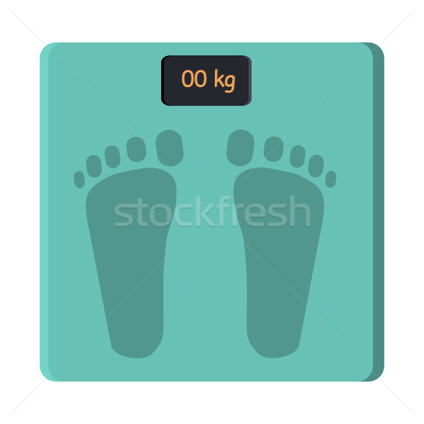 Bathroom Foot Scale Isolate. Weight Control Vector Stock photo © robuart