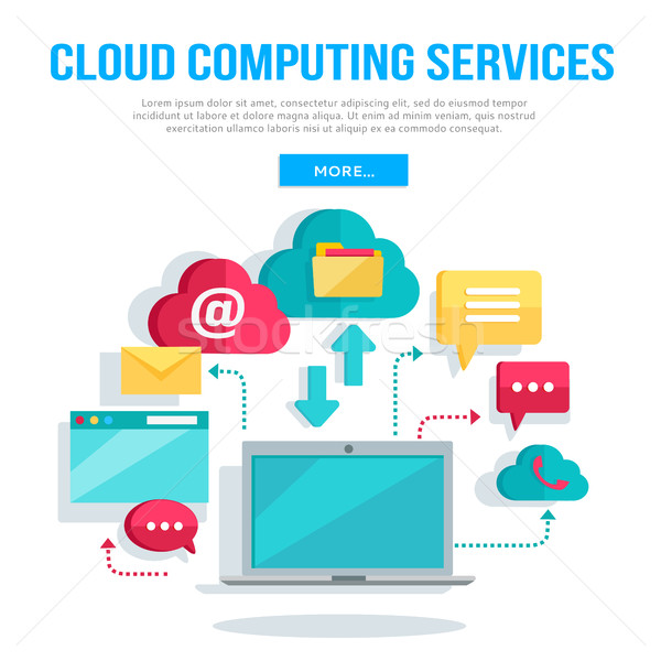 Cloud Computing Services Banner Stock photo © robuart