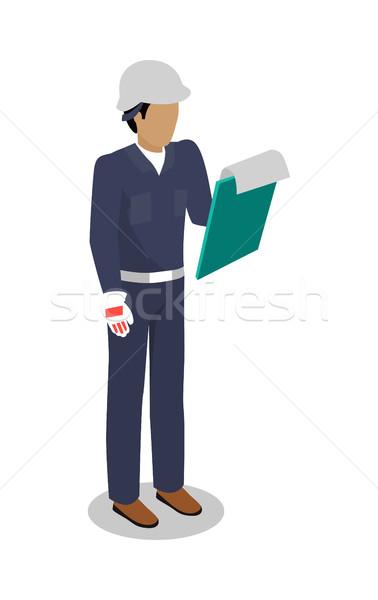 Worker in Uniform Vector Illustration Flat Design Stock photo © robuart