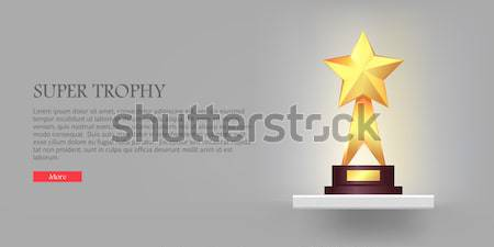 Meilleur trophée verre triangle star Photo stock © robuart