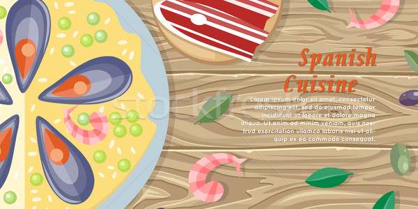 испанский кухня веб баннер Тапас изолированный Сток-фото © robuart