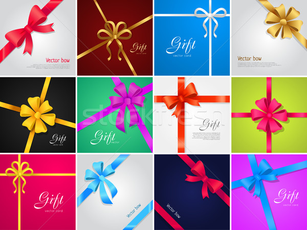 Vector Bow. Gift. Collection of Various Ribbons Stock photo © robuart