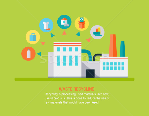 Garbage Recycling Concept Stock photo © robuart