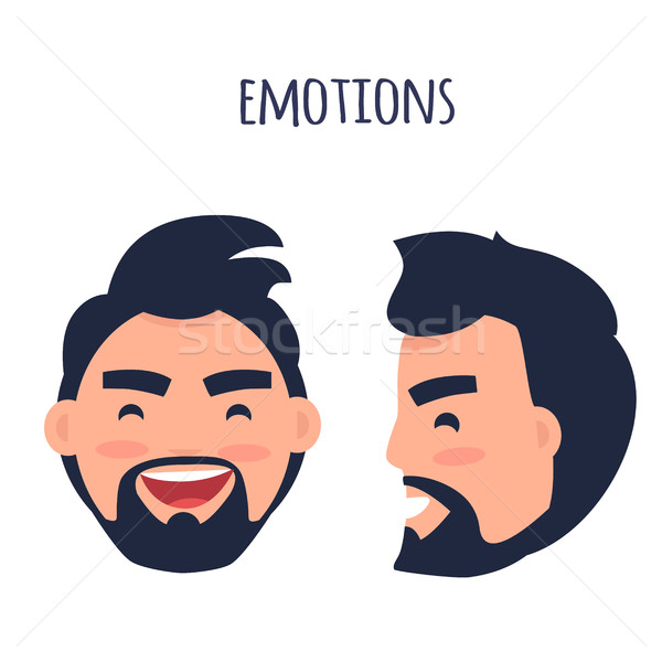 Happy Emotion. Face from Different Angles Vector Stock photo © robuart