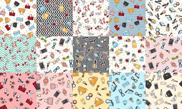 Big Set of Fashion Objects Seamless Pattern Stock photo © robuart