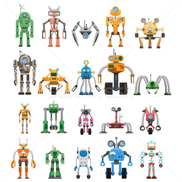 Robots Set Modular Collaborative Android Machines Stock photo © robuart