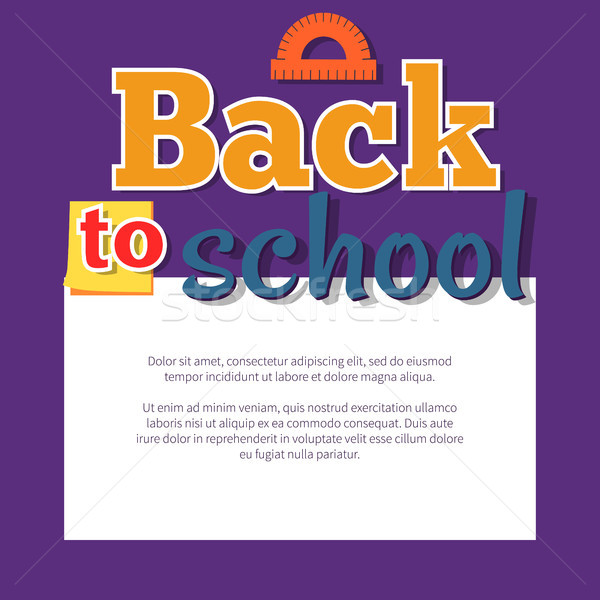 Back to School Poster with Place for Text in Frame Stock photo © robuart