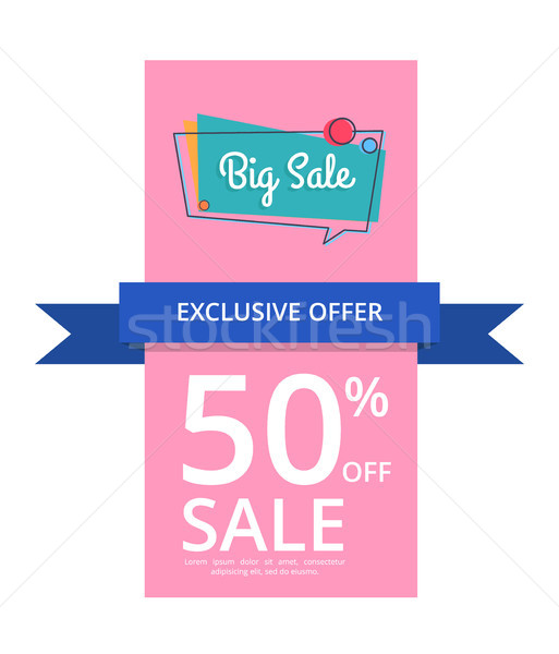 Big Sale Exclusiv Offer 50 Percent Off, Half Price Stock photo © robuart