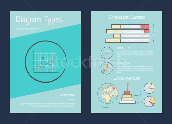 Daigram Types Presentation Vector Illustration Stock photo © robuart