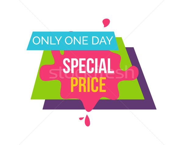Stock photo: Only One Day Special Price Vector Illustration
