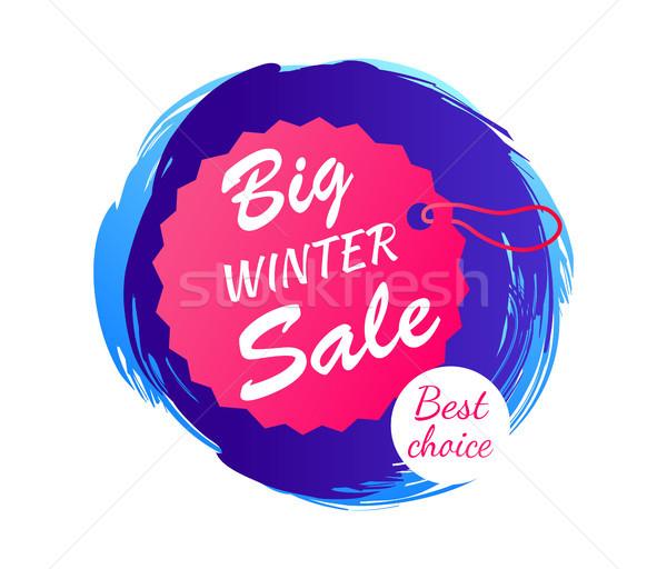 Big Winter Sale Best Choice Vector Illustration Stock photo © robuart