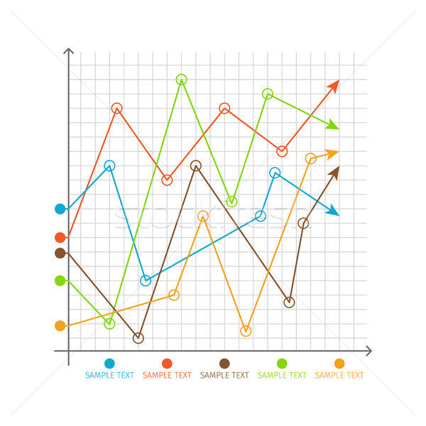 Infographic Chart Changing Graphs, System of Axes Stock photo © robuart