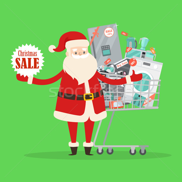 Christmas Big Sale from Santa Claus in Storehouse Stock photo © robuart