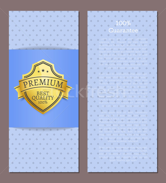 100 Guarantee Premium Best Quality Poster Text Stock photo © robuart