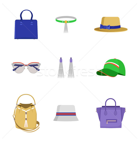 Accessories Collection Poster Vector Illustration Stock photo © robuart