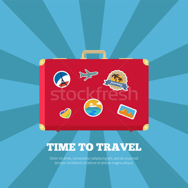 Time to Travel Journey Poster Vector Illustration Stock photo © robuart