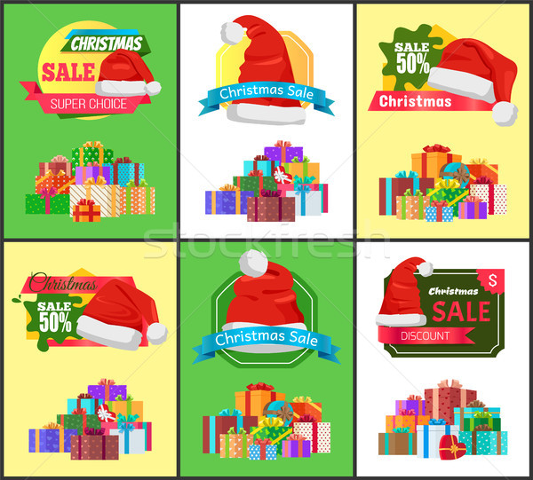 Stock photo: Winter Holiday Sale with Half Price Reduction