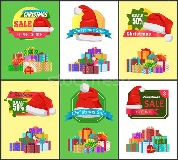 Zimą wakacje sprzedaży cena redukcja Zdjęcia stock © robuart
