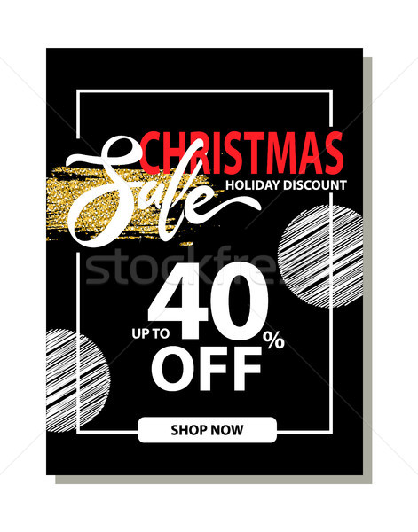 Final Christmas Sale Holiday Discount Poster Stock photo © robuart