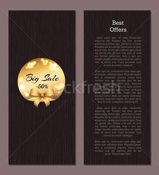 Najlepszy oferta promo plakat złoty etykiety Zdjęcia stock © robuart