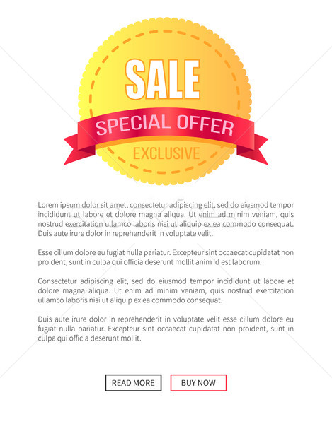 Special Offer Sale Round Discount Label on Poster Stock photo © robuart