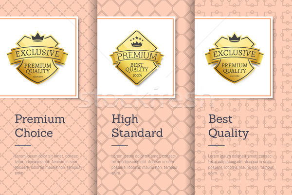High Standard Quality Premium Choice Golden Labels Stock photo © robuart