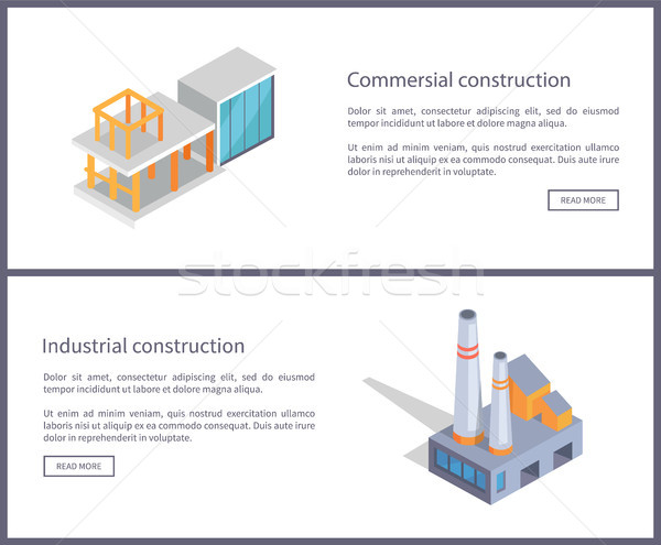 Commercial Construction Set Vector Illustration Stock photo © robuart