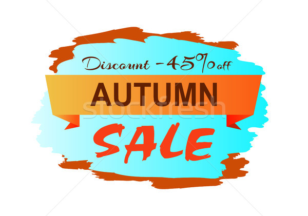 Autumn Discount Clearance Vector Illustration Stock photo © robuart