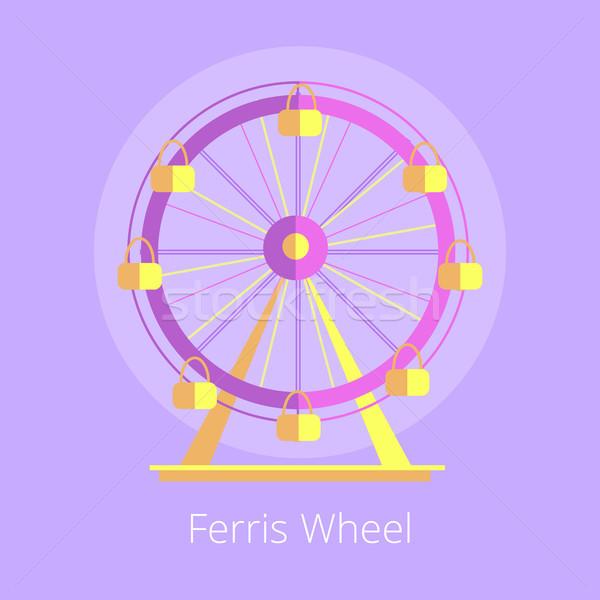 Ferris Wheel Amusement Park Vector Illustration Stock photo © robuart