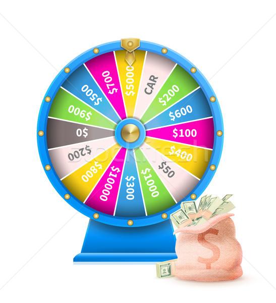 Rueda suerte automático juego máquina azul Foto stock © robuart