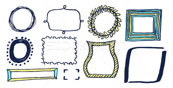 Set of Various Frames Card Vector Illustration Stock photo © robuart