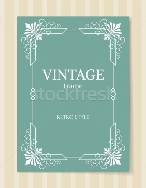 Vintage Frame Retro Style White Border Isolated Stock photo © robuart