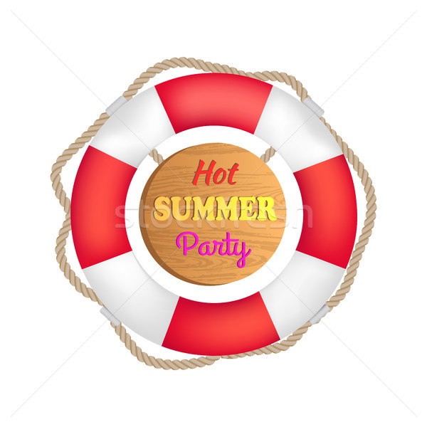 Hot Summer Party Lifebuoy Vector Illustration Stock photo © robuart
